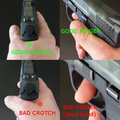 How to grip the handgun