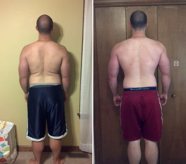 Before and After 28 days from back